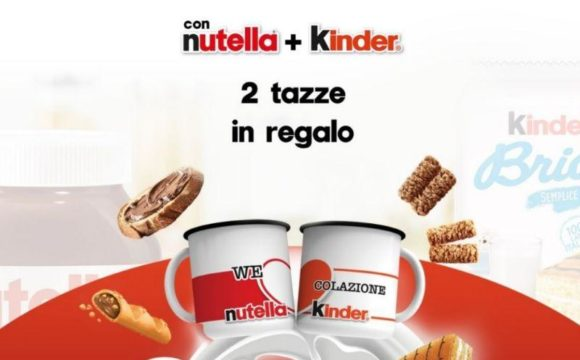 2 tazze nutella kinder
