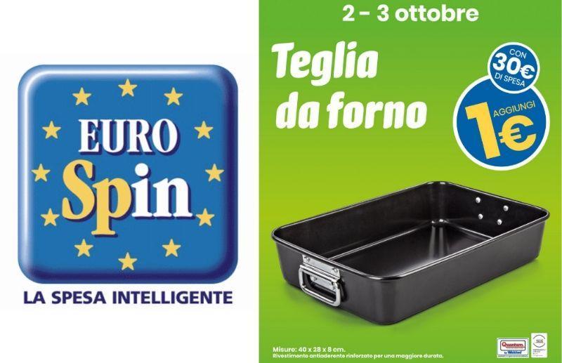 Eurospin teglia da forno a 1 euro