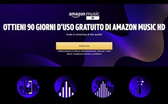 amazon music hd gratis per 3 mesi