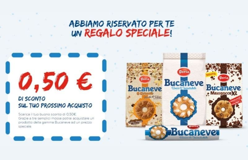 Buono sconto Bucaneve Doria da € 0,50!