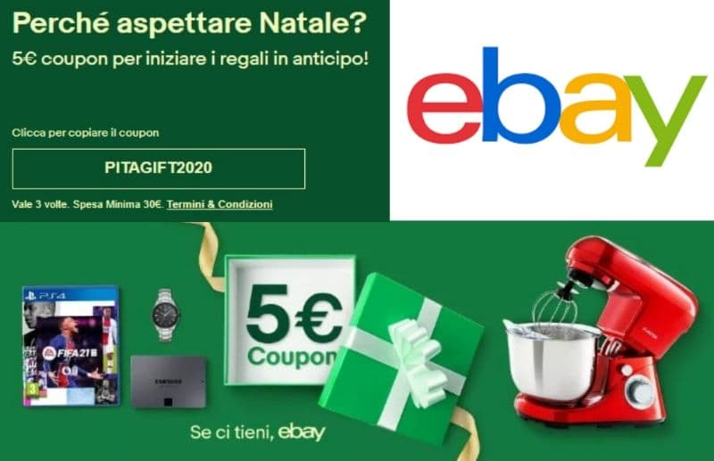 Codice sconto 5€ Ebay