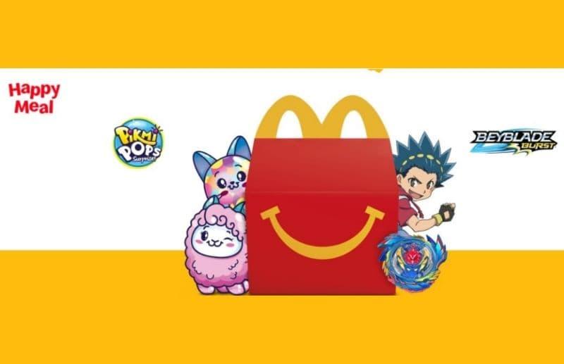 Happy Meal McDonald's: sorprese di Pikmi Pops e Beyblade Burst