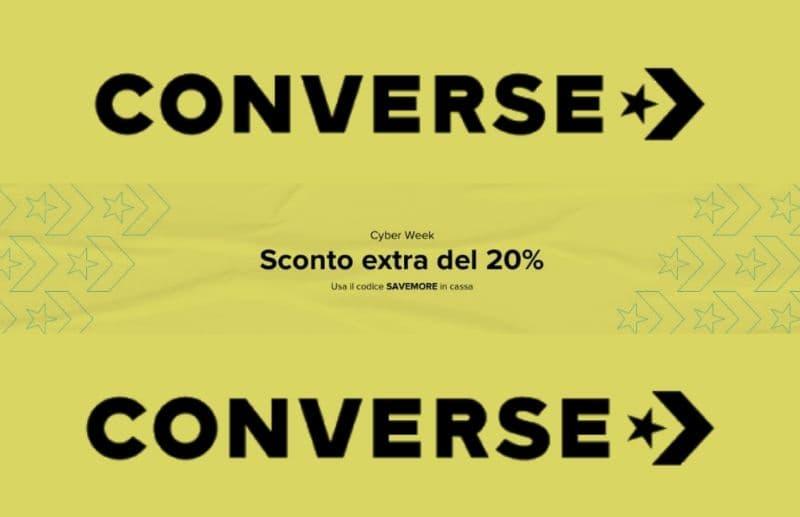 Converse Cyberweek, -20% su prodotti già in saldo