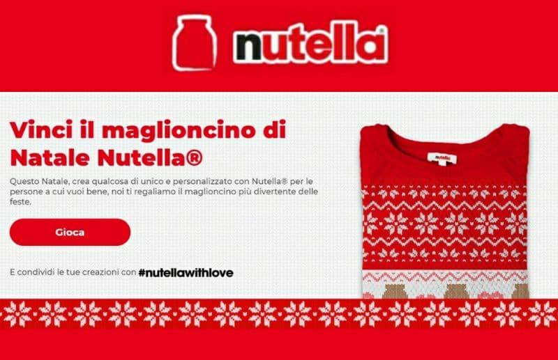Vinci il maglioncino Nutella, partecipa gratis al nuovo concorso