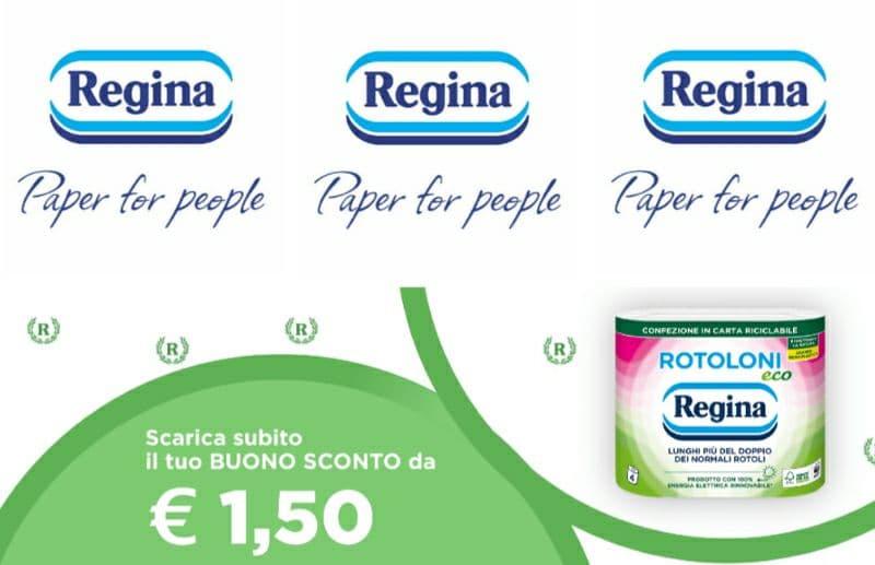 Buono sconto Rotoloni Regina Eco da € 1,50