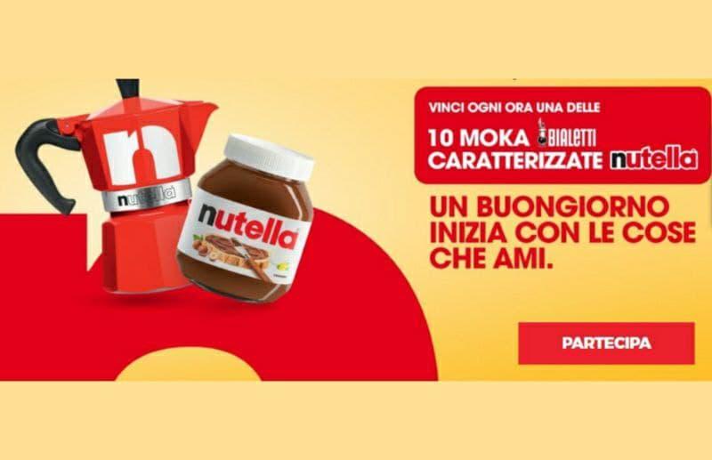 Concorso Nutella & Bialetti, 5760 Moka in palio