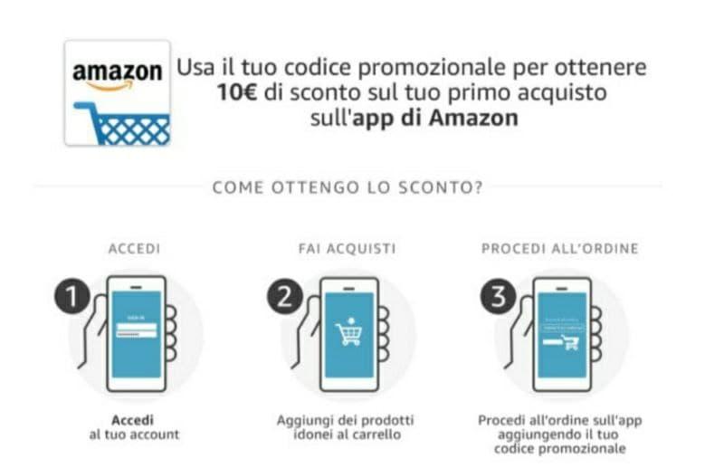 Amazon App, scaricala per ricevere un buono da 10€!
