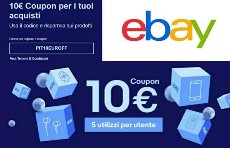Codice Sconto Ebay di 10 euro, PIT10EUROFF