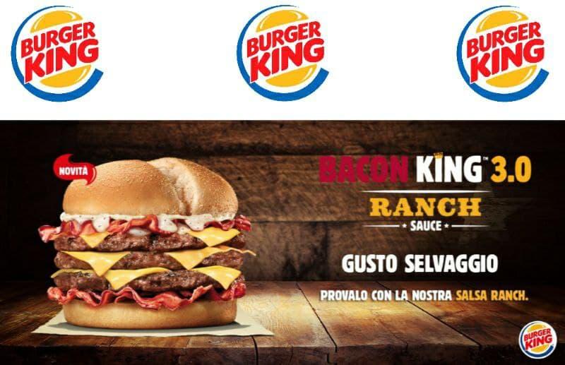 Offerte Burger King valide fino al 31 gennaio