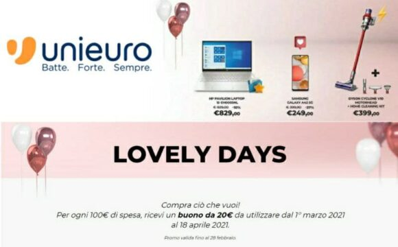 Lovely Days Unieuro buono da 20€