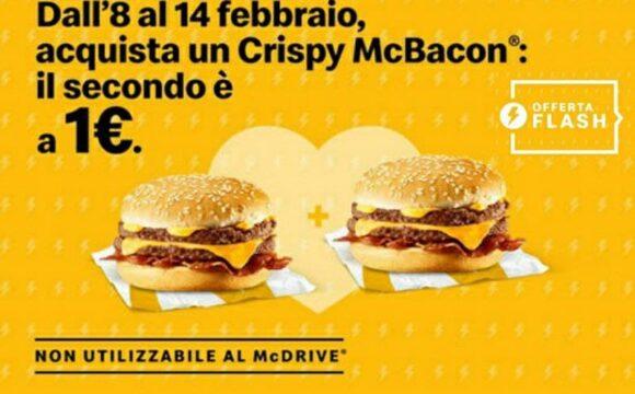 McDonald's Crispy McBacon a 1€
