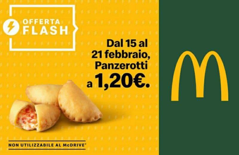 McDonald's panzerotti a 1,20 euro!