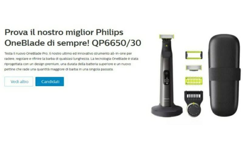 Philips OneBlade in omaggio! Nuovo Test!