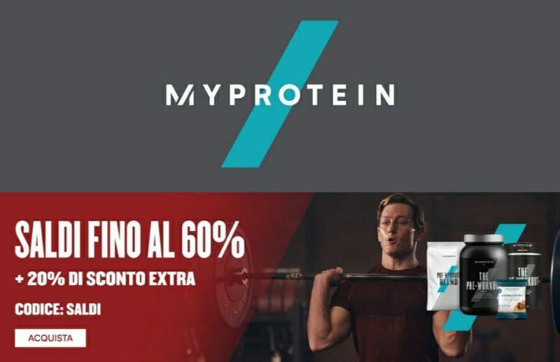 Saldi MyProtein 60% + 20% extra