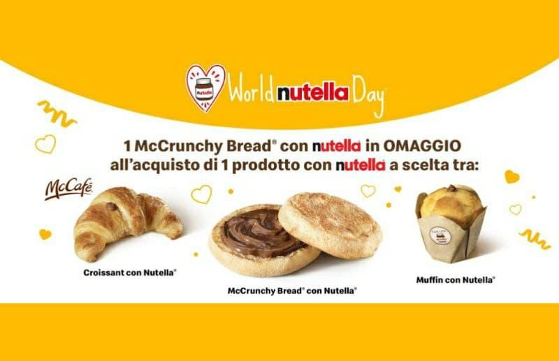 World Nutella Day gustalo da McDonald's