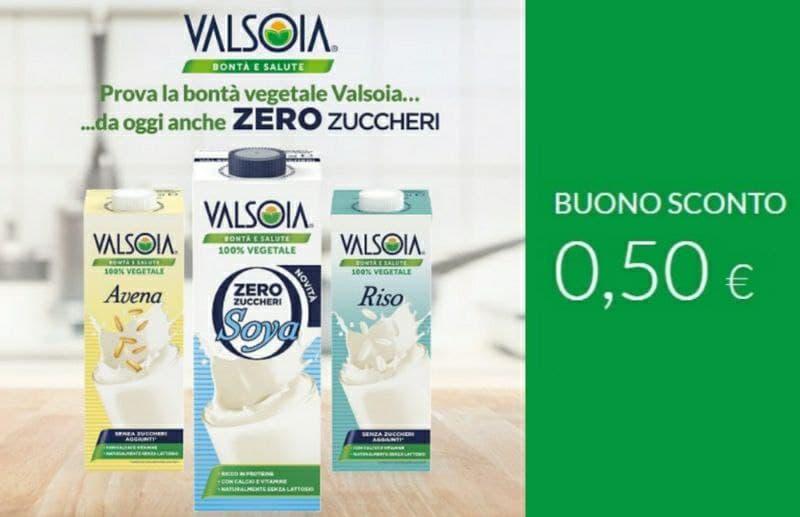 Buono sconto Valsoia 0,50 €, stampalo ora