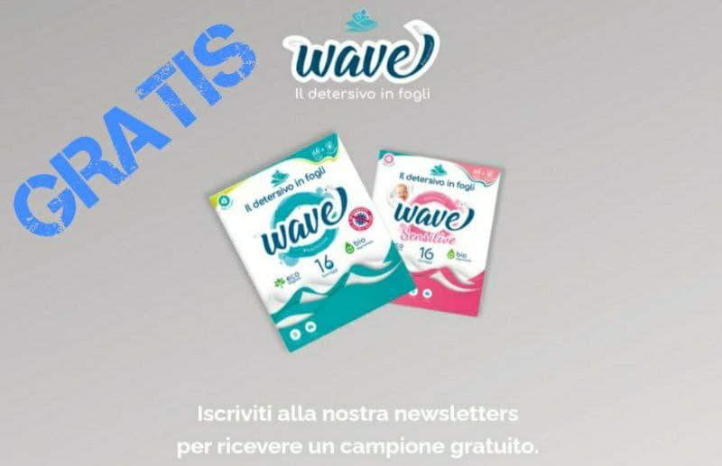 Campioni Omaggio Wave detersivo in fogli gratis
