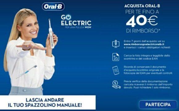 Cashback Oral-B fino a 40 euro Lascia andare il tuo spazzolino manuale