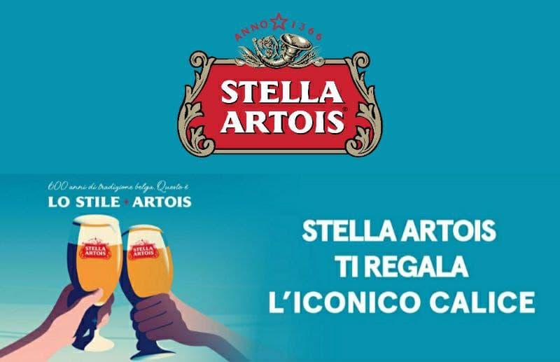 Concorso Stella Artois con premio sicuro un calice stellare