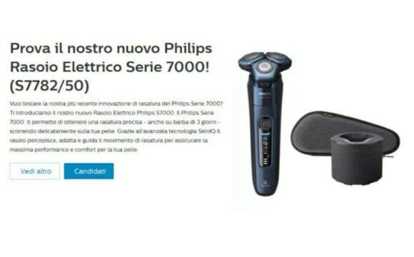 Rasoio elettrico Philips in omaggio! Nuovo Test!