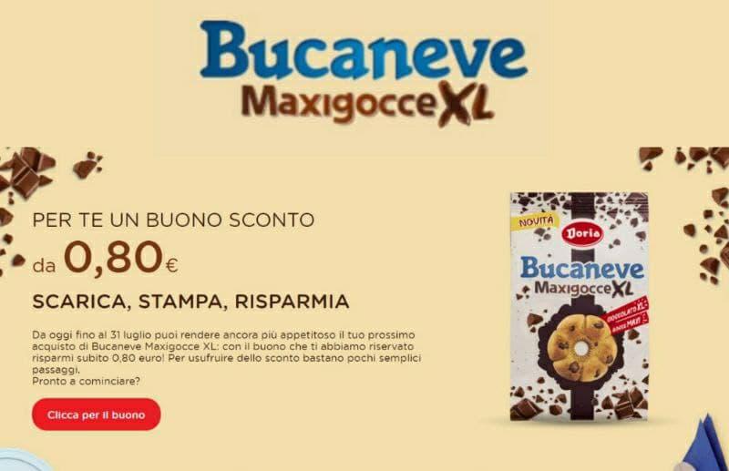 Stampa Gratis il Buono sconto Bucaneve MaxiGocce XL, novità Doria