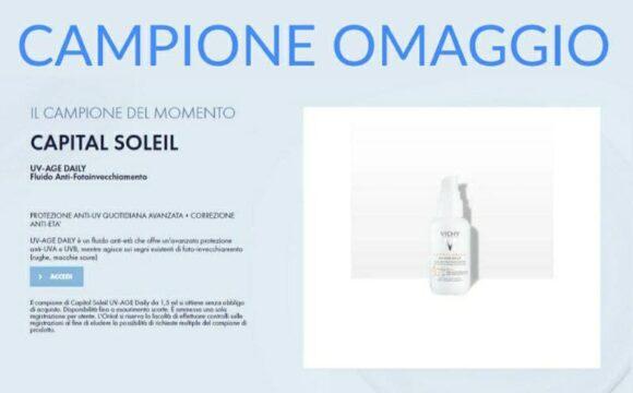 Campione omaggio Vichy Capital Soleil UV-Age Daily Fluido Anti-Fotoinvecchiamento