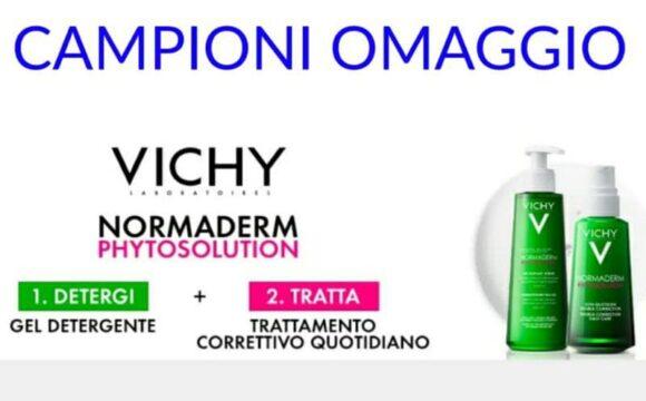Campioni omaggio Vichy Normaderm Phytosolution gel detergente e trattamento quotidiano