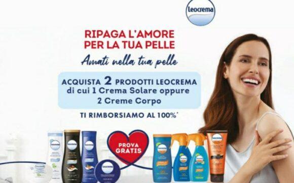 Cashback Leocrema ricevi 100% di rimborso Leocrema ripaga l'amore per la tua pelle