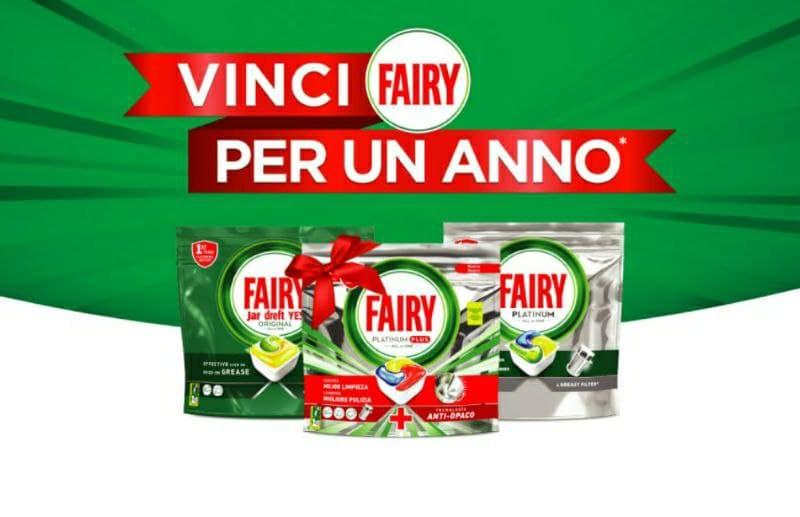Concorso Fairy vinci prodotti per un anno 122 forniture