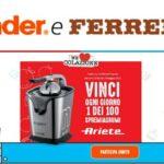 Nutella e Kinder per lo spremiagrumi Ariete nuovo concorso We love colazione Aprile 2021