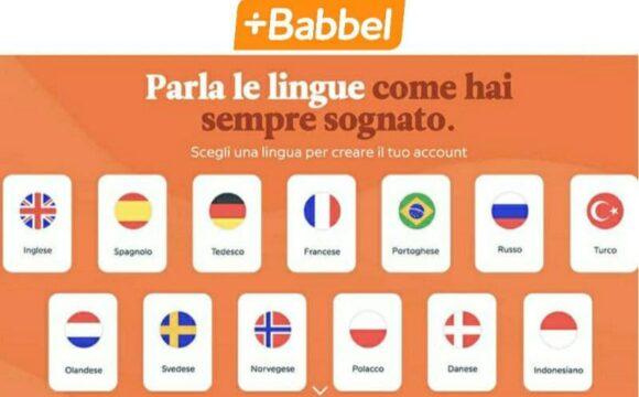 Babbel abbonamento annuale scontato al 50% impari nuove lingue