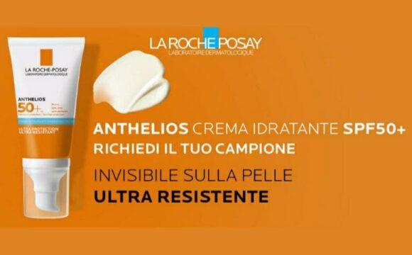 Campione omaggio La Roche-Posay Anthelios crema idratante SPF50+ per il tuo viso sono fino ad esaurimento scorte