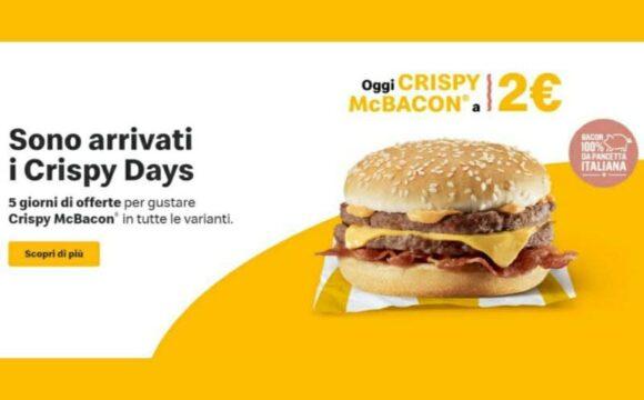 McDonald's Crispy Days 5 offerte per 5 versioni