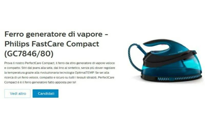 Philips FastCare Compact riceverai il prodotto in omaggio Nuovo Test