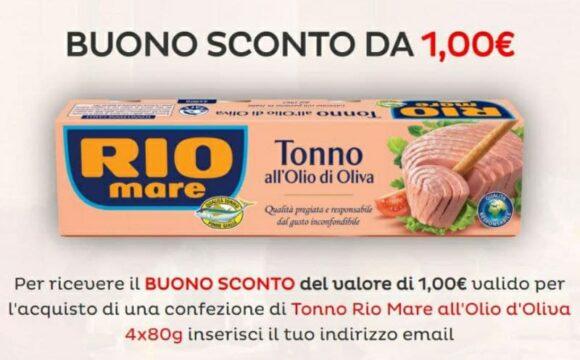Stampa gratis il buono sconto Tonno Rio Mare all'Olio d'Oliva e risparmia anche tu 1 euro