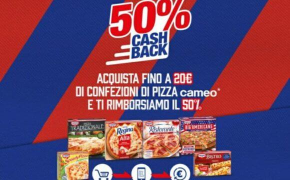 Cashback Cameo del 50% Lasciami Tifare risparmiare il 50% sulle pizze