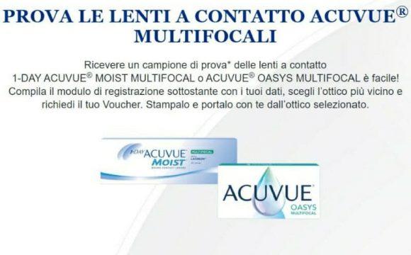 Gratis Acuvue Lenti a Contatto multifocali ricevi un campione di prova