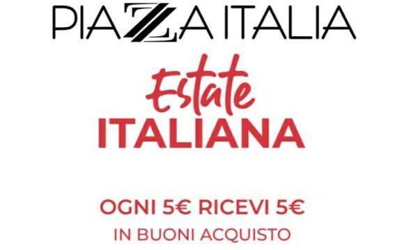 Offerta Piazza Italia su 5 € di spesa, 5 € di cashback con buono