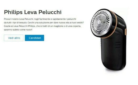 Philips Leva Pelucchi in omaggio Nuovo Test candidati anche tu