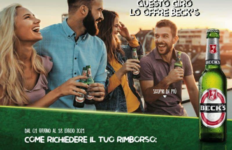 Rimborso Birra Beck's fino a 10 euro iniziativa alla birra ci pensa Beck's