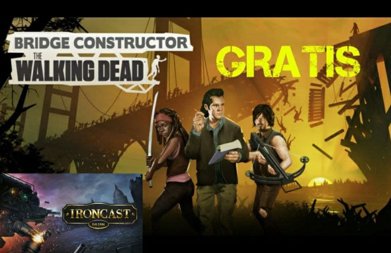 Epic Games 2 giochi Gratis questa settimana Bridge Constructor The Walking Dead e Ironcast