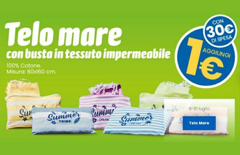 Eurospin Telo Mare 100% cotone a solo 1€ il 9 e 10 luglio