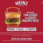Partecipa Cashback salse Heinz acquista 3 salse ricevi il rimborso della salsa più cara