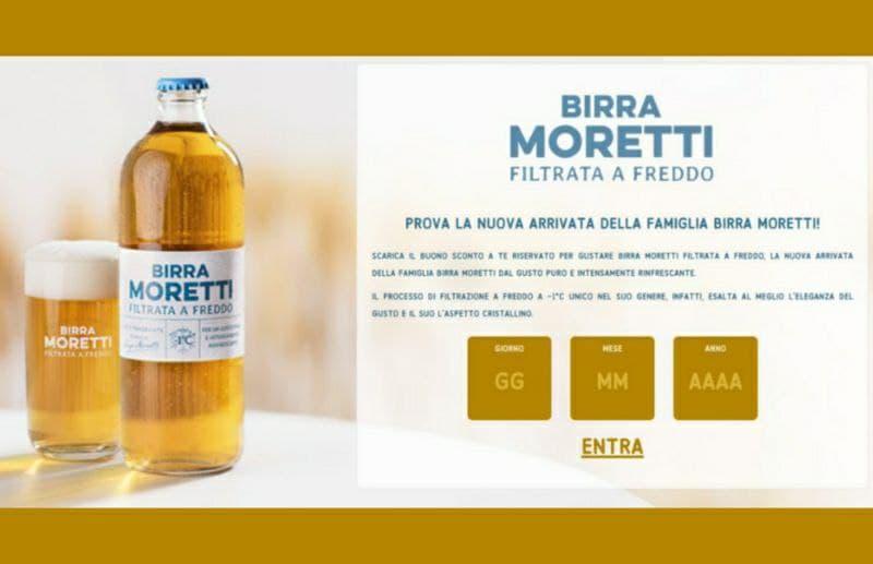 Stampa gratis il Buono sconto di € 0,50 Birra Moretti Filtrata a freddo