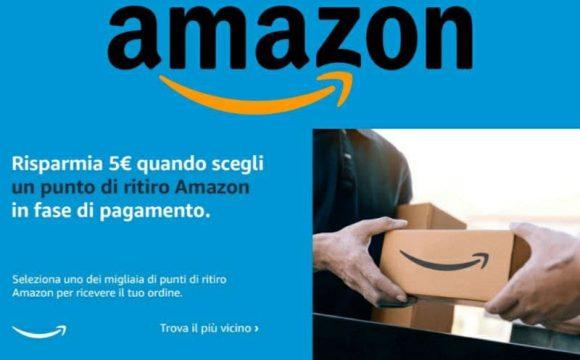 Buono Amazon da €5 Click & Collect primi 24.000 clienti idonei