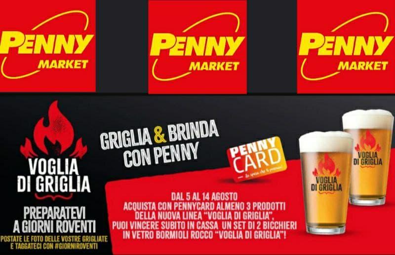 Concorso Penny Market Griglia & Brinda vinci 2 bicchieri Bormioli Rocco ecco come partecipare