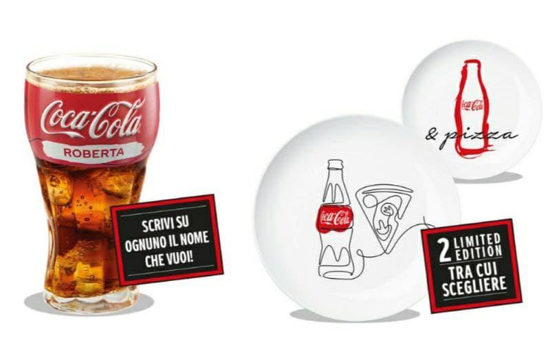 Nuovo Concorso Coca-Cola piatti e bicchieri personalizzati