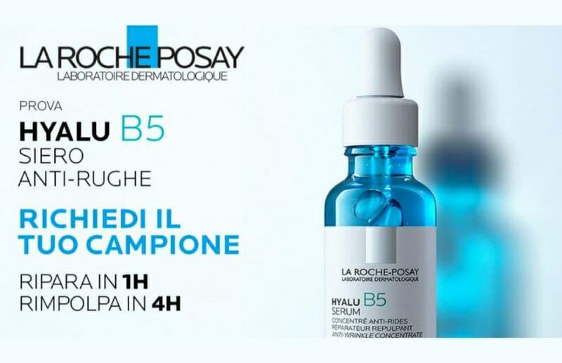 Campione omaggio La Roche-Posay siero anti-rughe Hyalu B5 richiedilo subito fino ad esaurimento scorte