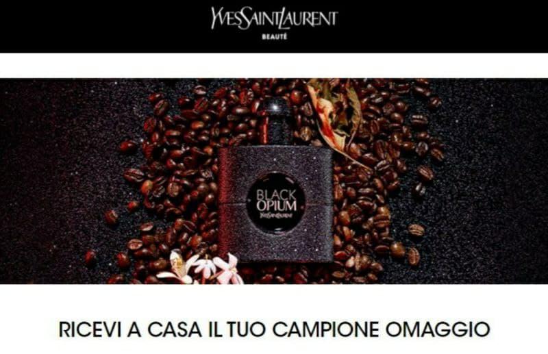 Campione omaggio profumo Yves Saint Laurent Black Opium Eau de Parfume Extreme affrettati gratis fino ad esaurimento scorte