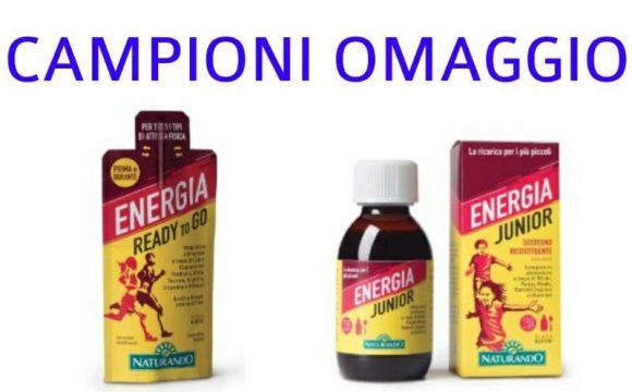 Campioni omaggio Naturando, richiedili gratis integratori alimentari Energia Ready to Go Energia Junior